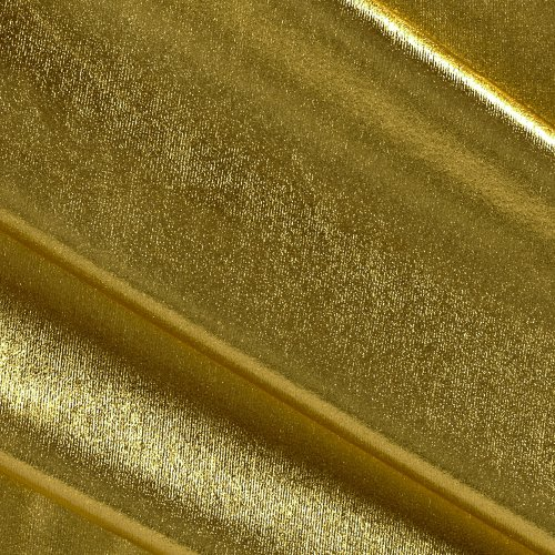 Triple Textile Polyester Spandex Lame Knit Gold, Fabric by the -