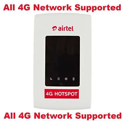 Airtel 4G Hotspot Portable Wi-Fi Data Device (White) Support All Networks