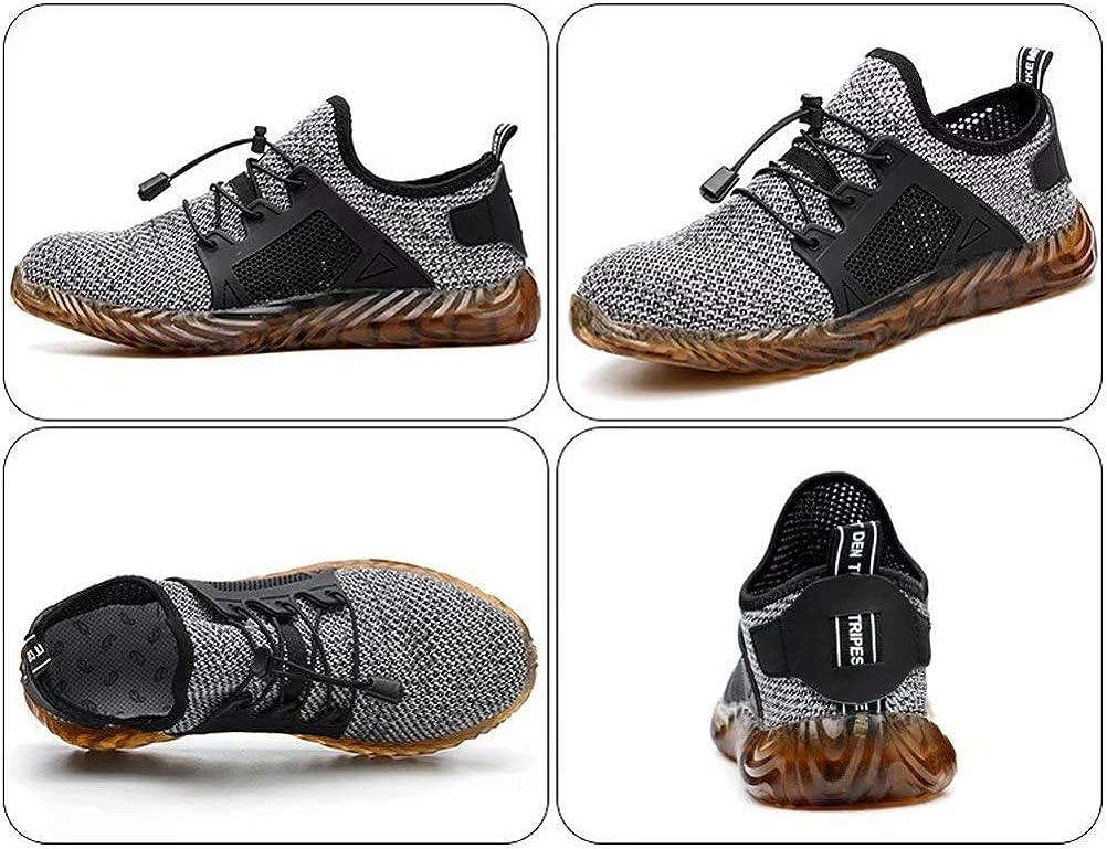 JIANYE Chaussures de S/écurit/é S3 Homme Embout Acier Protection L/éger Basket Securite Chaussures de Travail Unisexes