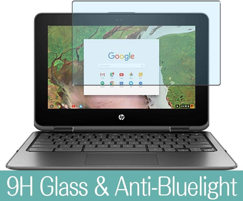 "Synvy Anti Blue Light Tempered Glass Screen Protector for HP Chromebook x360 11-ae100 si / ae131nr / ae110nr / ae161cl / ae120nr / ae100nd / ae105nf / ae110nr / ae101nd 11.6"" Visible Area"