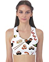 Colorful Pattern With Japanese Food Women's Sport Bra