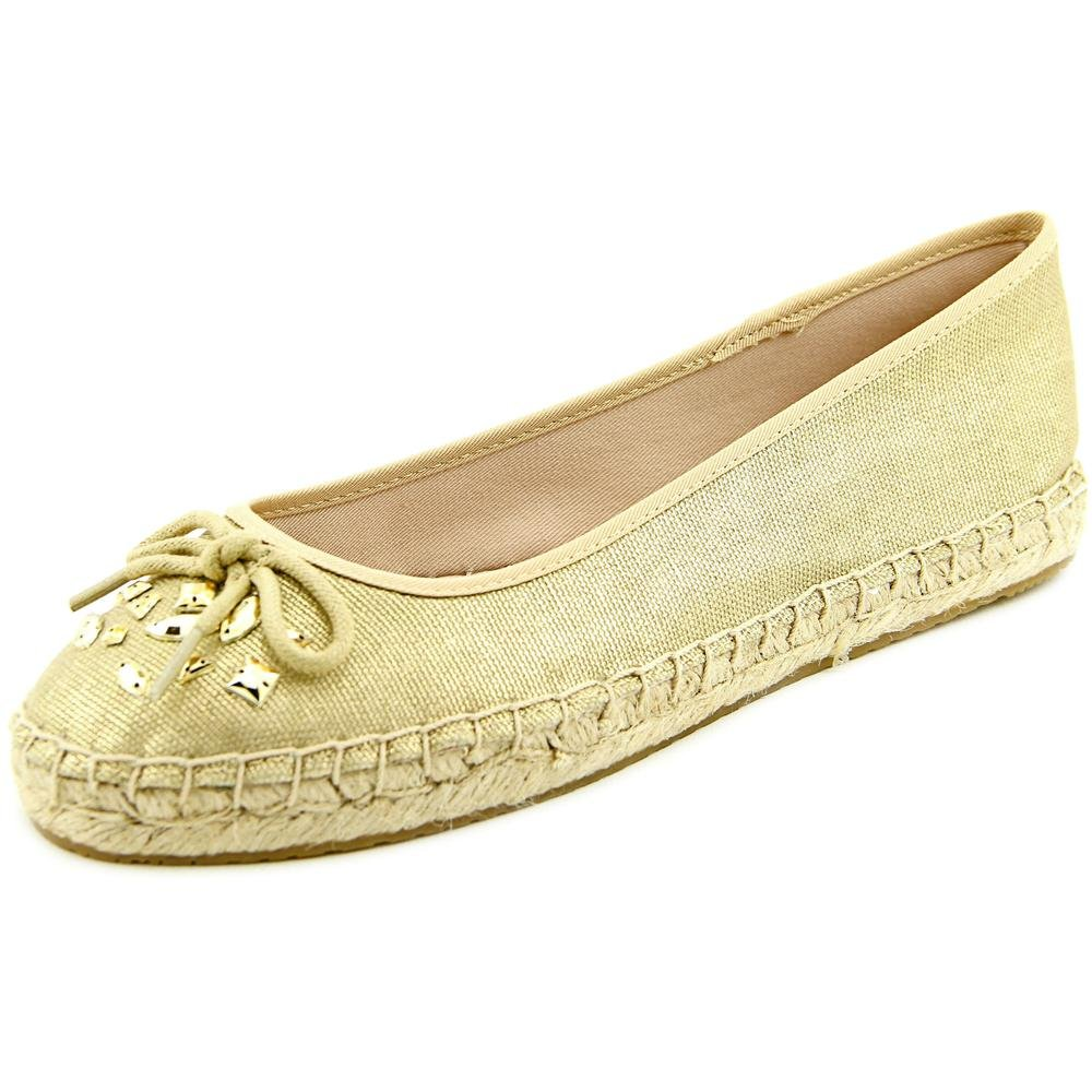 Style & Co. Womens VALORR Canvas Closed Toe Espadrille Flats, Gold, Size 9.5