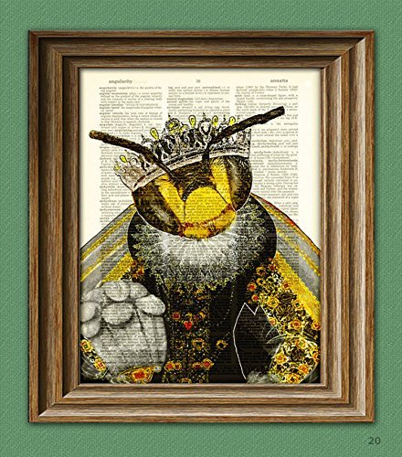 CollageOrama Queen Elizabee her Royal Highness Queen Bee Dictionary page book