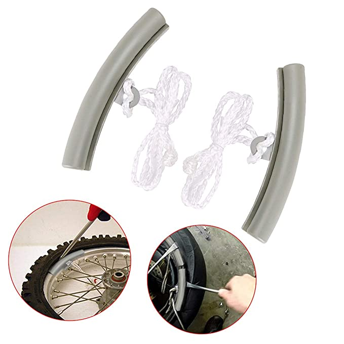 Concrete Grey BTSKY 4Pcs Motorcycle Wheel Rim Protectors Changing Tyre Tire Wheel Rim Edge Protectors