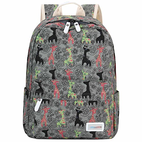 Canvas Laptop Bag Shoulder Daypack School Backpack Causal Handbag (Grey Deers) (Galaxy Executive Chair)