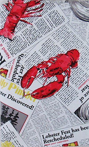 Lobsterfest Clambake Vinyl Flannel Back Tablecloth (52