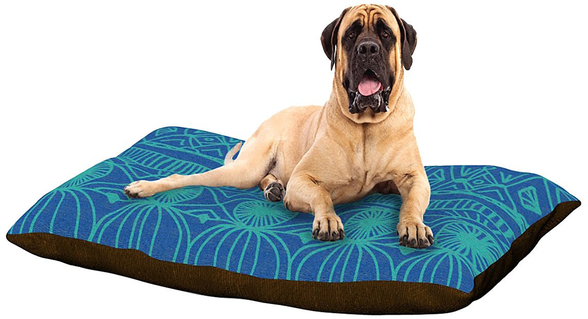 Beach Blanket Confusion XLarge 40  x 50 Kess InHouse Catherine Holcombe Black and bluee  Pattern Fleece Dog Bed, 30 by 40Inch
