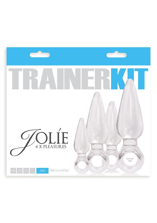 Ns Novelties Jolie Trainer Kit Anal Plugs, Clear
