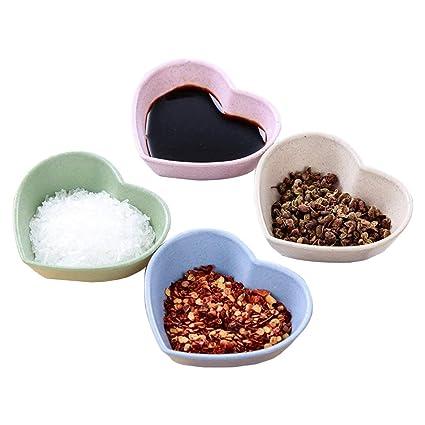 Sauce Dish CHXIHome Sauce Plate, Heart Ceramic Sauce Dish/Seasoning Dish/ Sushi Soy