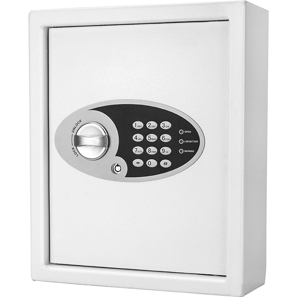 White AX12658 BARSKA 48 Key Digital Wall Key Safe