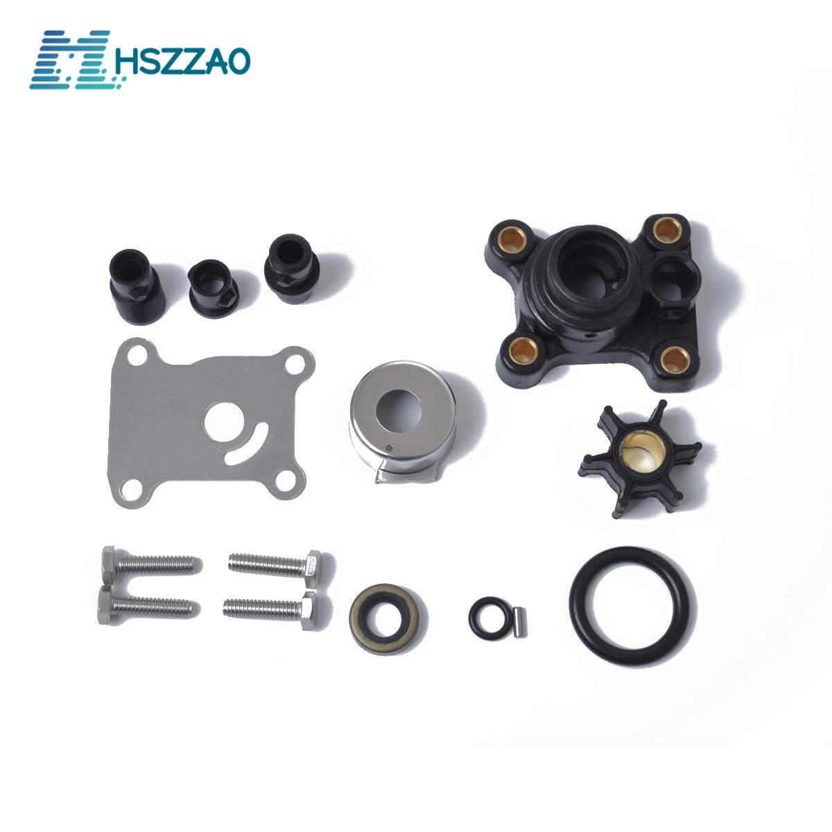 Impeller Water Pump 9.9hp & 15hp Repair Kit For Johnson/Evinrude 394711 by MHSZZAO