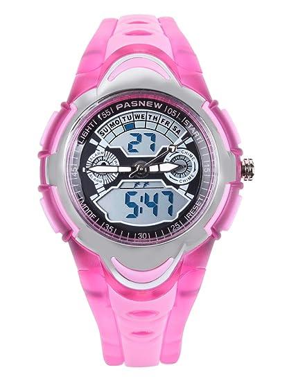 Relojes de Pulsera analógicos Digitales de Doble Tiempo Resistentes al Agua para niños y niñas: Amazon.es: Relojes