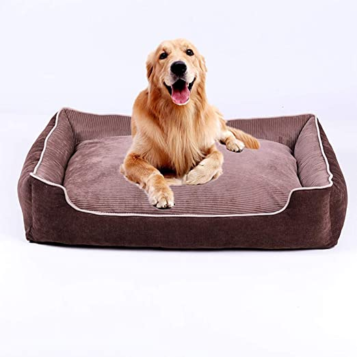 Wttfc Artículos para Mascotas Luxury Medium & Extra Large Luxury Fur Dog Bed Cama para Perro/Estilo Sofá Luxury Square Dog Bed 6 Tamaños,Marrón,XXXL: Amazon.es: Hogar