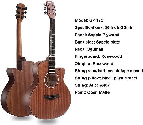 SXJC 36 Pulgadas Guitarra Acústica Color Natural Guitarra Acústica ...
