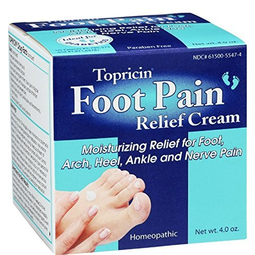 Topricin Foot Pain Relief Cream, 4 oz ( Pack of 8)