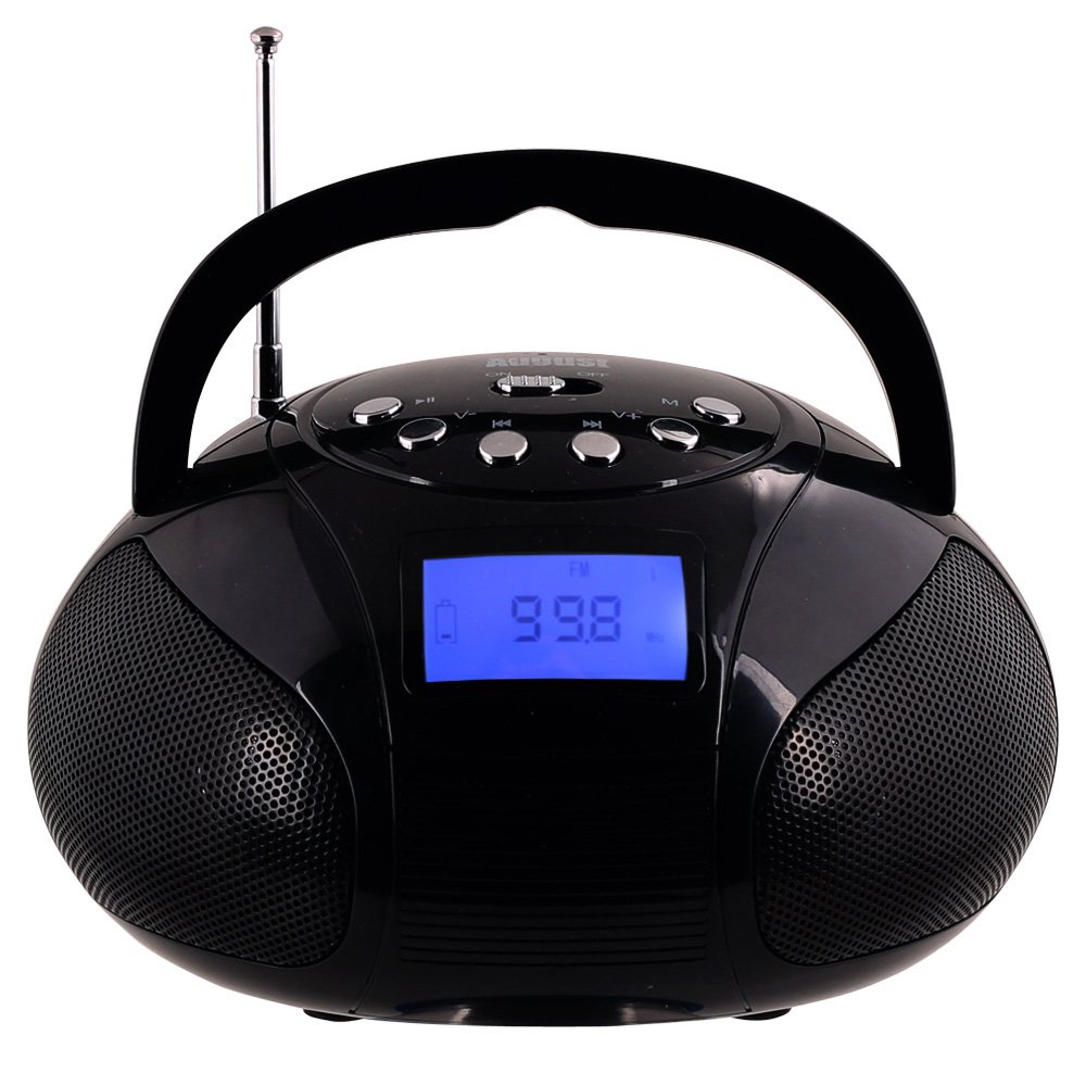 Mini Bluetooth Mp3 Stereo System Portable Radio With Speaker Powerful Fm Alarm Clock Card Reader Usb And Aux In Micro