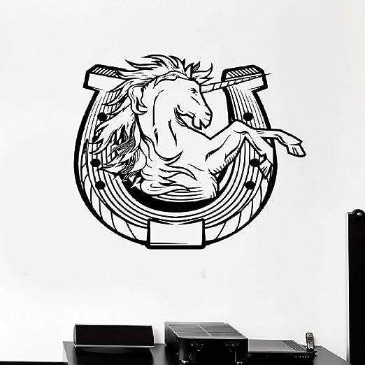 JXGG Vinilo Tatuajes de Pared Unicornio Herradura Amuleto Amuleto ...