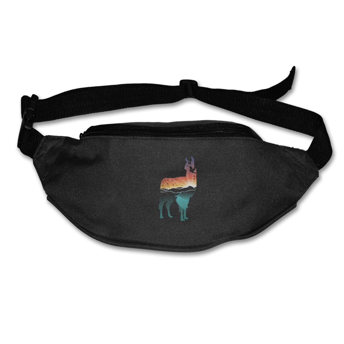 Sunset Llama Sport Waist Packs Fanny Pack Adjustable For Hike