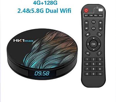 MAX Smart TV Box Android 9.0 4GB 64GB RK3328 Quad Core 4K HD WiFi Set Top Box Reproductor Multimedia Android Box,D: Amazon.es: Electrónica