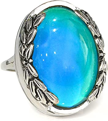Vintage Silver Statement Ring with Multi Coloured Stones