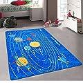5x7 Kids Boys Children Toddler Playroom Rug Nursery Room Rug Bedroom Rug Fun Colorful ( Solar System )