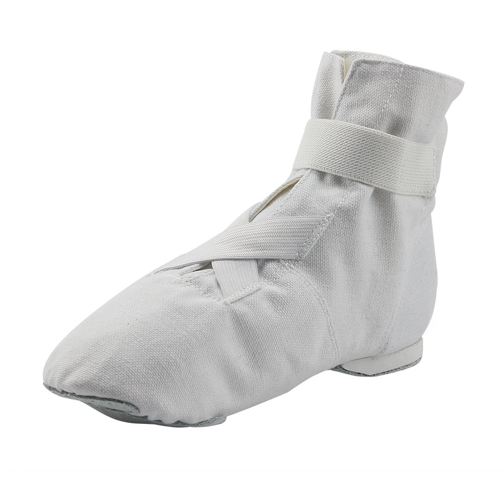 MSMAX Adult Soft Canvas Boots Unisex Dance Flats White Size 7.5 by MSMAX