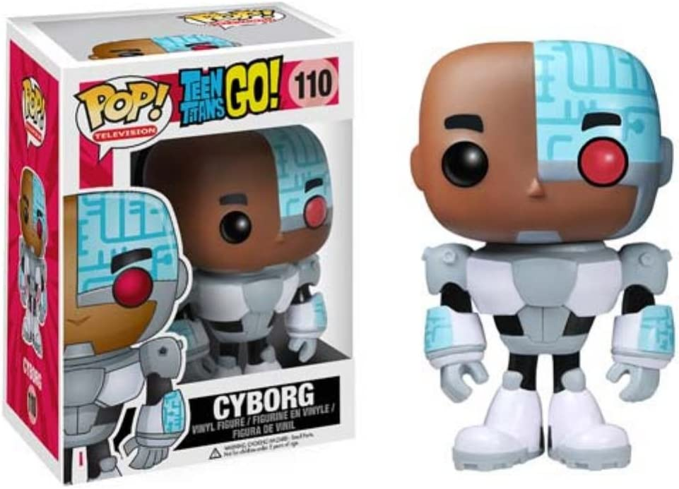 Amazon Com Funko Pop Tv Teen Titans Go Cyborg Action Figure Funko Pop Television Toys Games