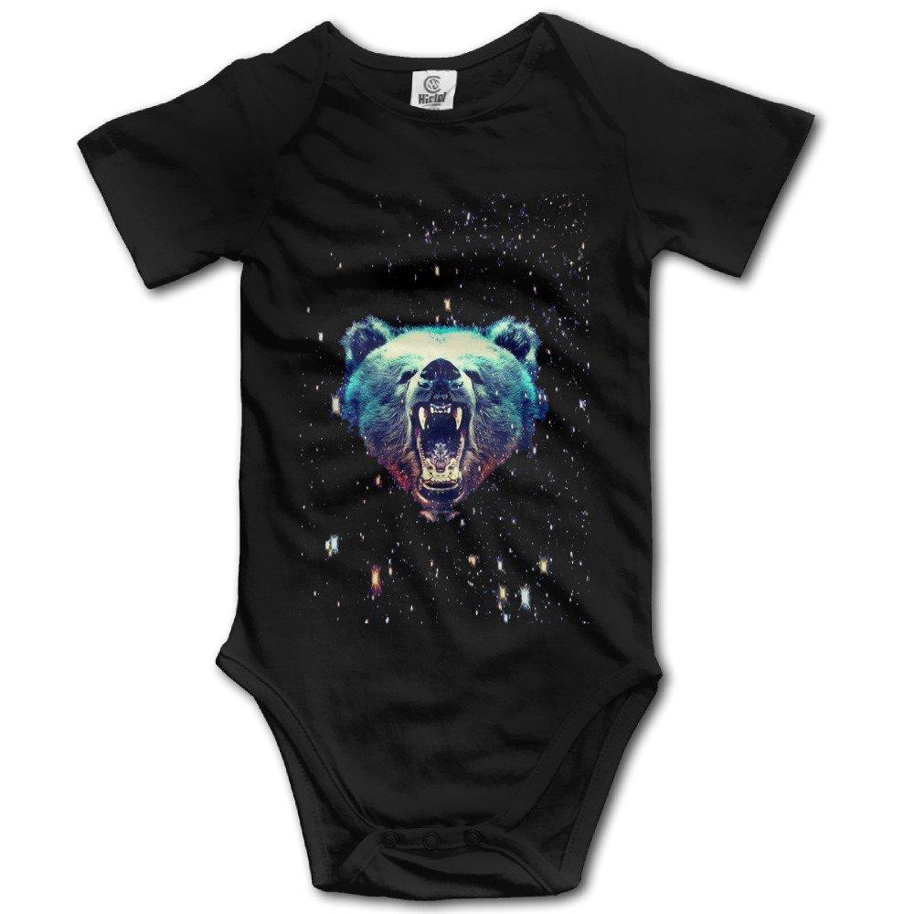 Funny Vintage Unisex Galaxy Animal Of Bear Baby Onesie Newborn