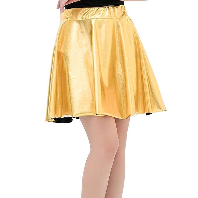 4fa78e343 Highdas Vintage Broncea PU Skits Mini Faldas Faldas Primavera Verano ...