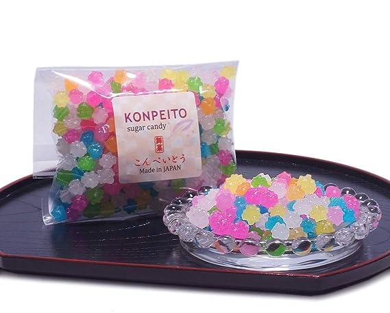 Amazon Com Konpeito Japanese Tiny Sugar Candy Crystal 100g Rainbow Grocery Gourmet Food