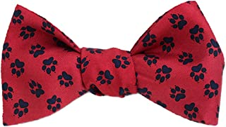 product image for Josh Bach Men's Animal Pawprints Self-Tie Silk Bow Tie, Made in USA
