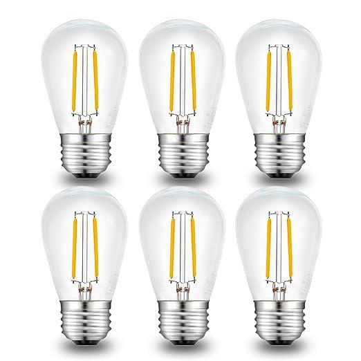 Amazon.com: Bombilla LED de filamento Litake, 2 W S14 ...
