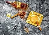 JIFENG® Cigar Cutter - Rose Golden Zig-Zag Ripple