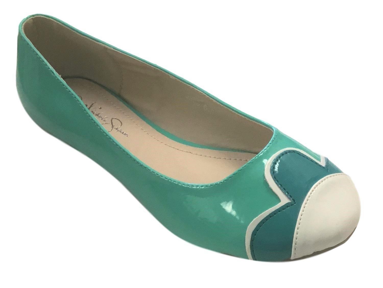 Nichole Simpson Nicole Simpson Womens Slip-on Petal Patent Ballerina Flat Shoes B07B8QQKDH 6.5 B(M) US|Mint