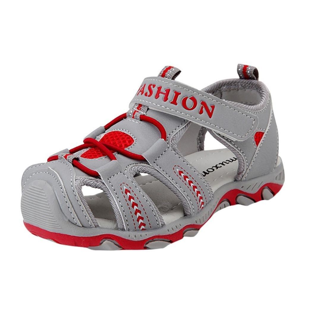Sandalias para Bebés Xinantime Zapatos para niños pequeños Zapatos cerrados Baby Boy Girl Sandalias de playa de verano Zapatillas (26, Rojo): Amazon.es: ...