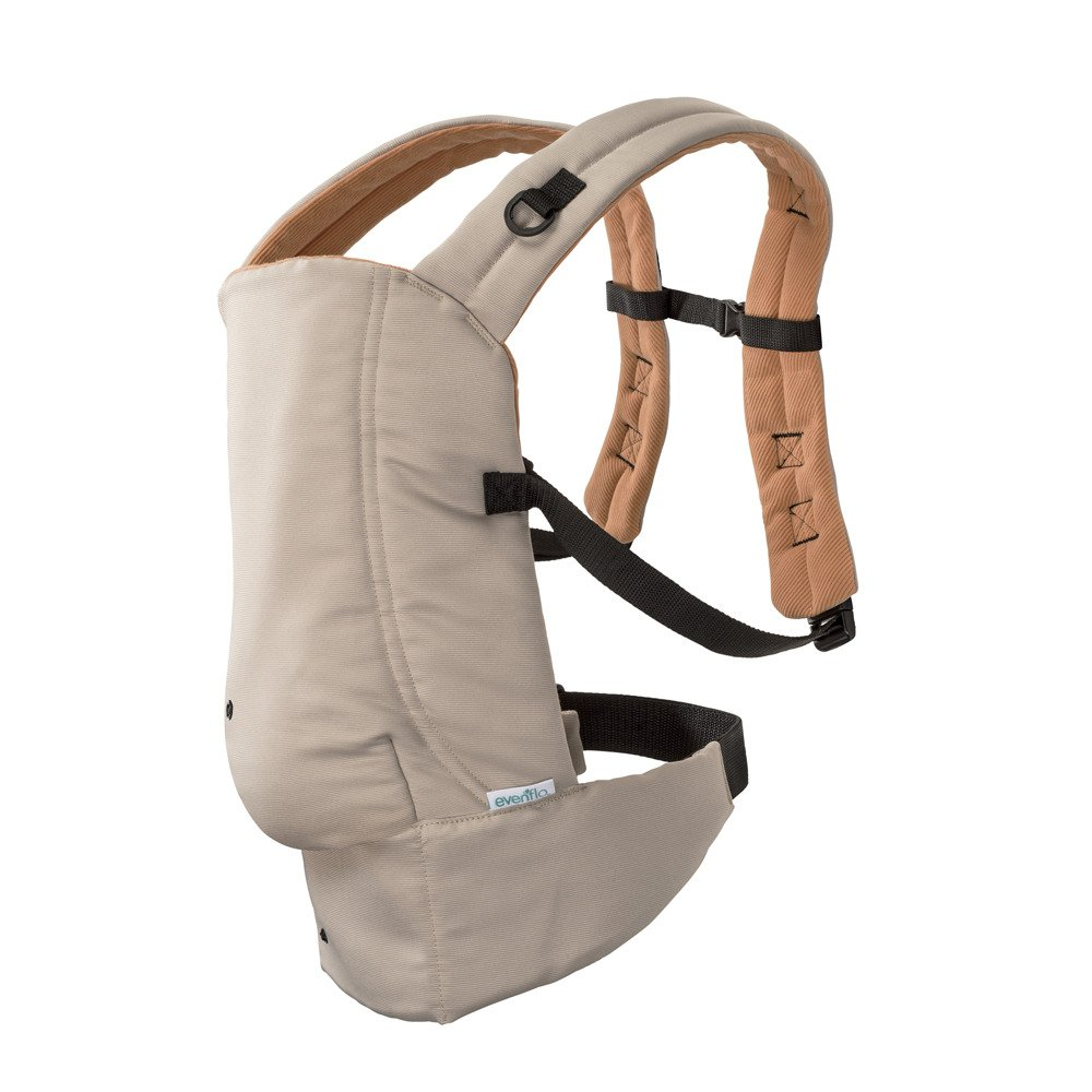 Evenflo Natural Fit Soft Carrier, Khaki Orange 08611523