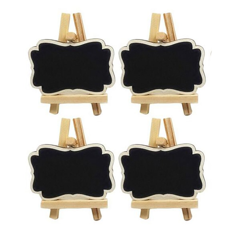 10PCS Mini Wooden Black Chalkboard Place Cards with Easel for Wedding Party Message Board Signs Decorating Signs and Daily Home Decoration (Large)