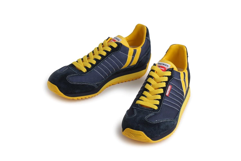 PATRICK パトリック メンズ レディース ( MARATHON マラソン 9422 NAVY/YELLOW ネイビー/イエロー ) ローカット ナイロン/スエード スニーカー 靴 B00S3DZQX2 41 (26.0cm)