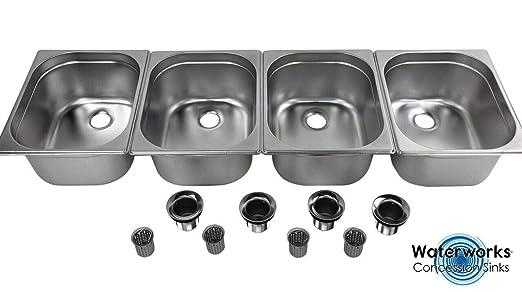Portable 4 Compartment Sink.Amazon Com 4 Large Concession Sink Compartment Portable
