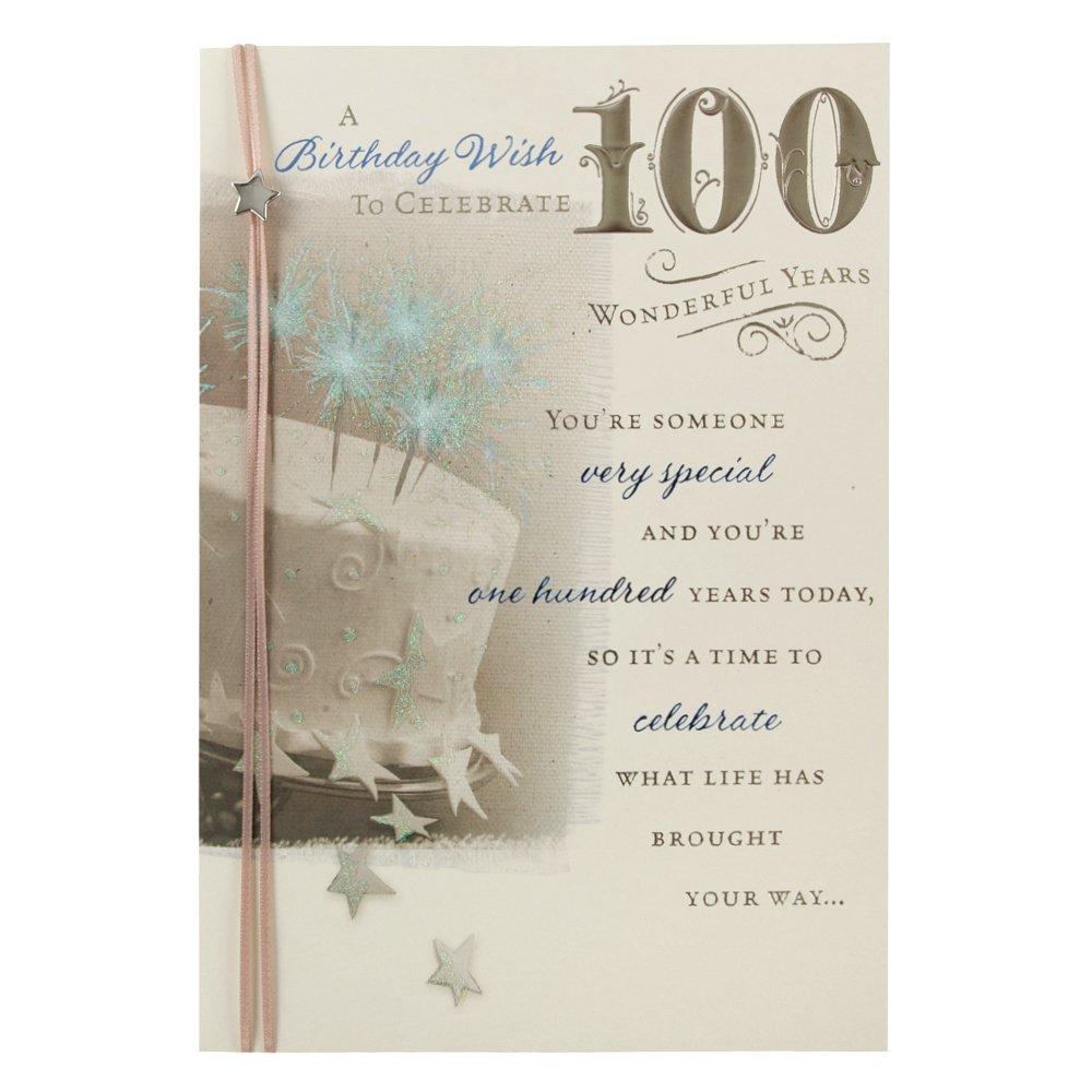 Amazon 100th Birthday Birthday Greetings Cards Office – 100th Birthday Invitation