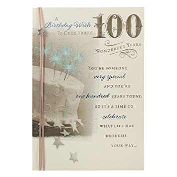 Hallmark birthday card 100 wonderful years medium amazon hallmark birthday card 100 wonderful years medium bookmarktalkfo Images