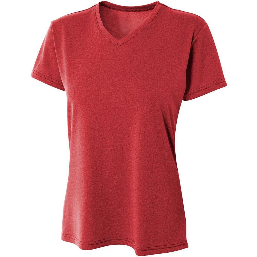 A4 Damen Topflight Heather V-Ausschnitt Performance T-Shirt