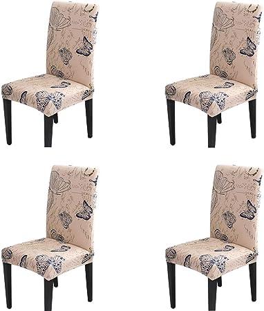 Handfly para sillas Pack de 1/4/6 Fundas sillas Comedor, Lavable ...