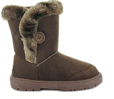ff39483c1 ella Girls Kids Winter Boot Comfortable Faux Fur Lined Size 4 5 6 7 8 9 10  11 12 13 1 2 Casual Trendy  Amazon.co.uk  Shoes   Bags