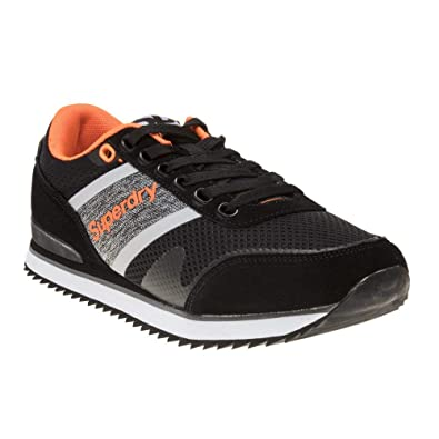 Superdry Fero Runner Uomo Sneaker Nero  Amazon.it  Scarpe e borse 373e5b5ca56