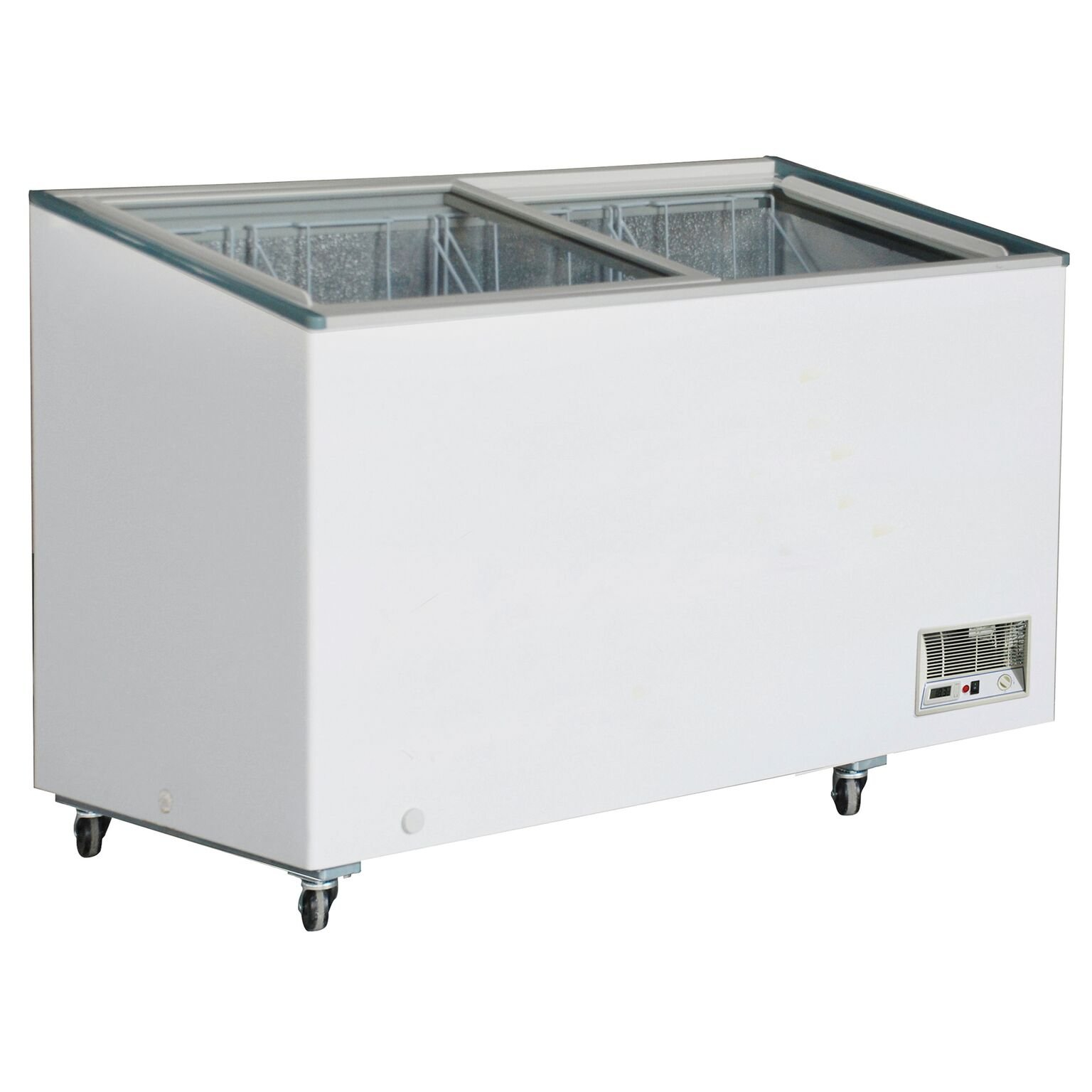 DUURA DVFD14.2 Flat Glass Display Freezer, White