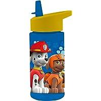 POS 28230 - Botella con diseño de la Patrulla Canina, transparente con pajita abatible, libre de BPA, capacidad aprox…