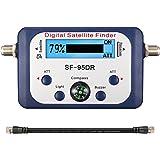 Détecteur Pointeur Signal de Satellite, ELEGIANT Satfinder Localisateur Testeur Numérique de Signal avec Network Directv et Compass