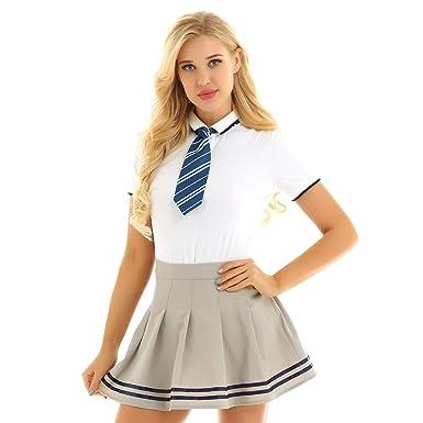 choisir l'original 100% authentique vente la moins chère MSemis Femme Fille 3 Pcs Uniforme Scolaire Deguisement ...