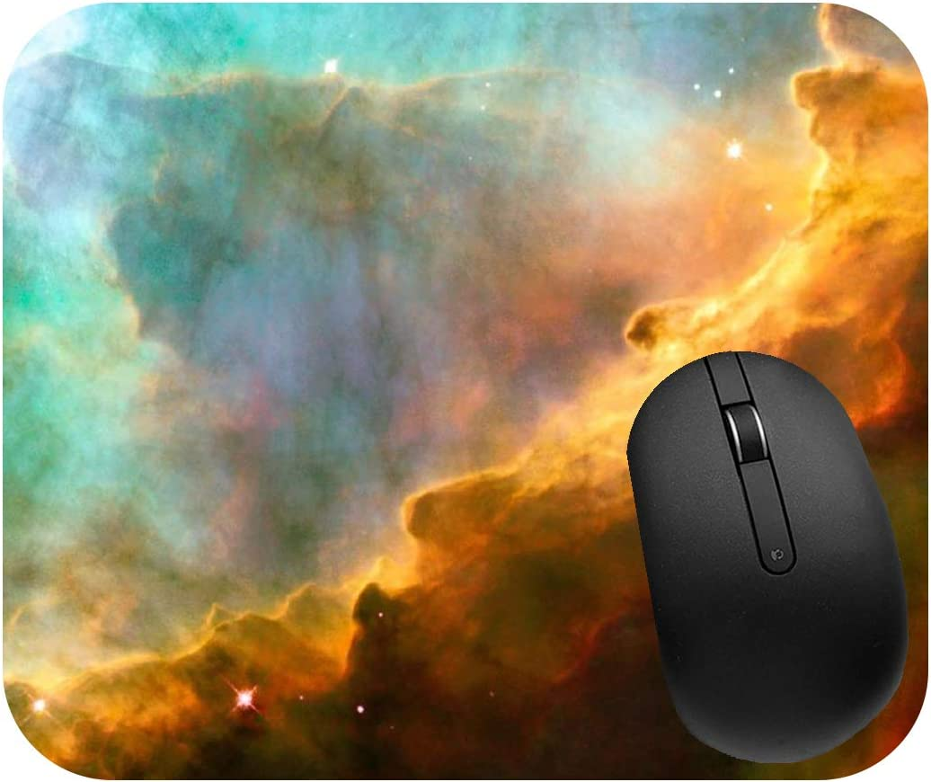 Decorative /& High Performance Thick Natural Rubber No Slip Base Large 9.25 x 7.75 x 1//4, Earth Mouse Pad Universe Planets /& Space Mouse Pads 2 Sizes